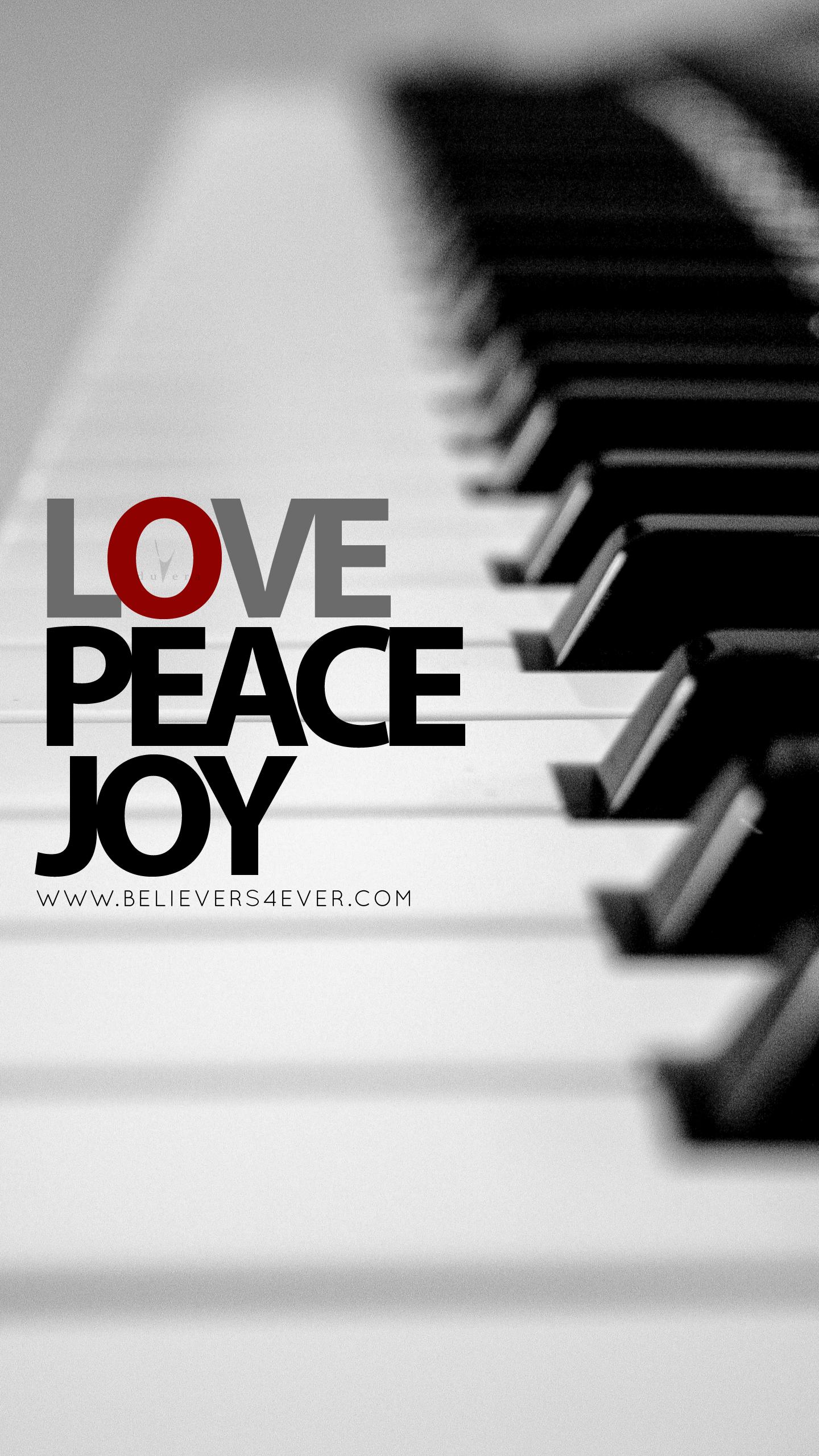 Love Joy Peace mobile Christian lock screen wallpaper