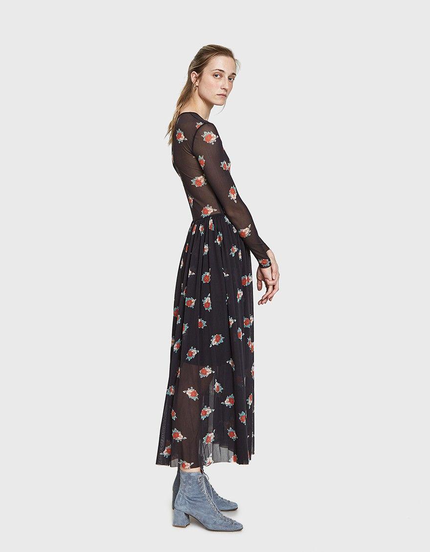 a9087cb8357 GANNI   Tilden Mesh Sheer Maxi Dress in 2019