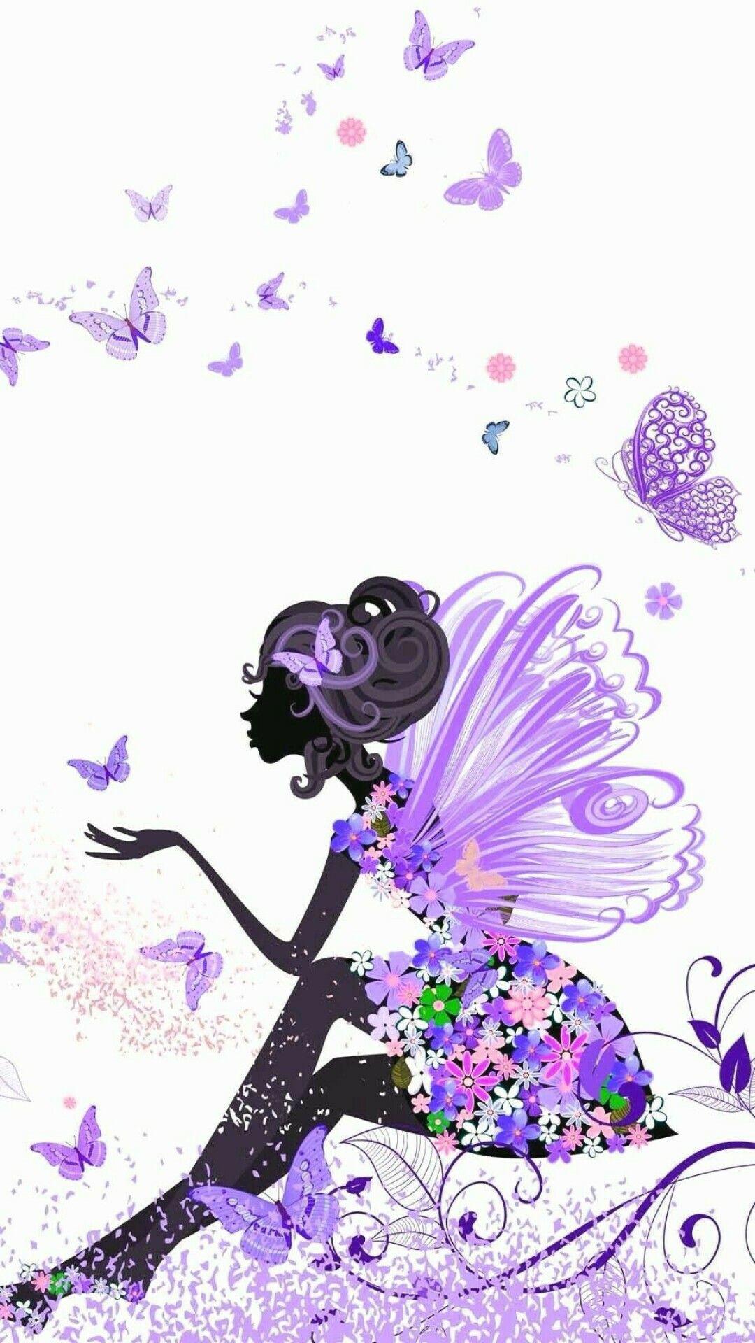 Блестящие картинки на телефон феей цветов