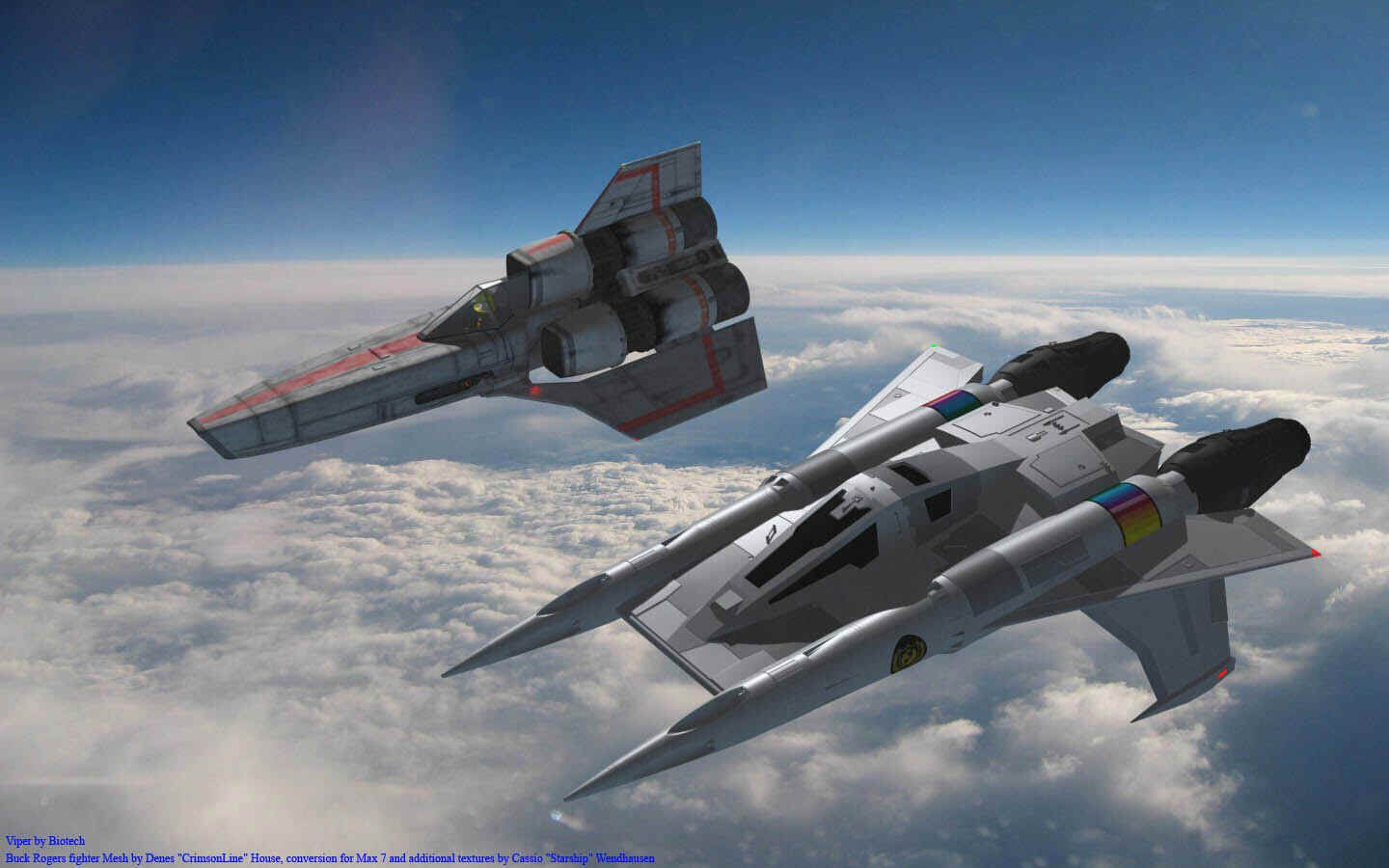Earth Directorate Starfighter from Buck Rogers! What if THIS