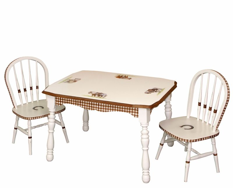 Vintage Table And Chair Set Ponies Table And Chair