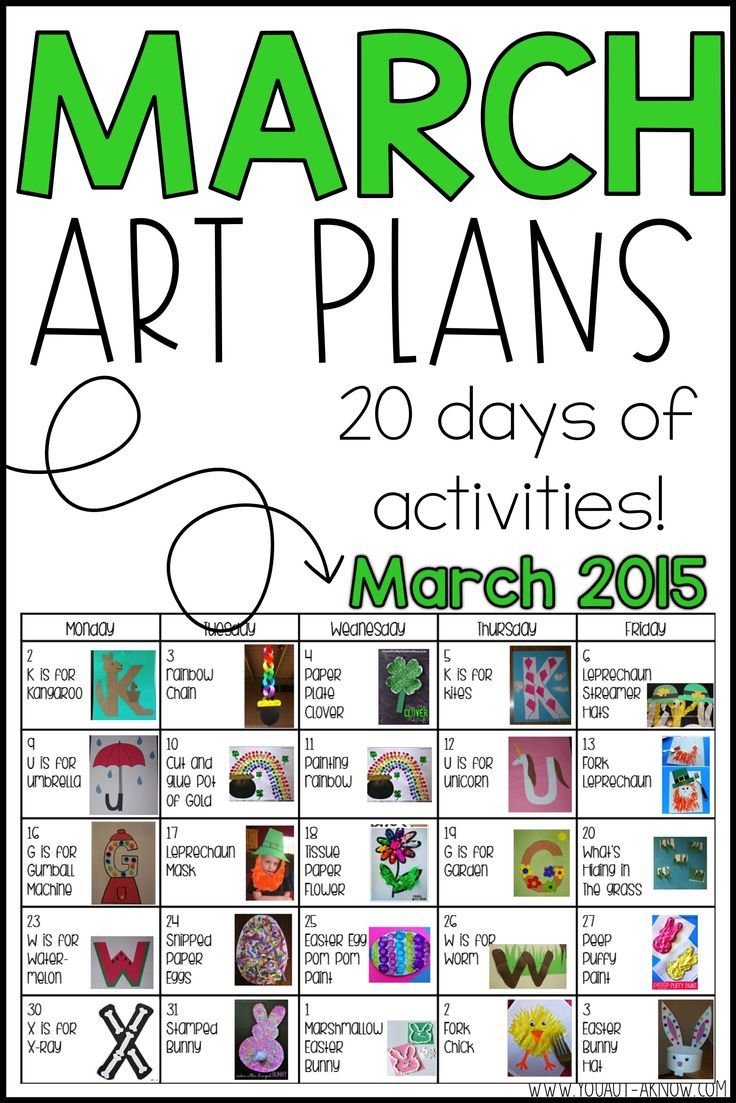 March Art Plans And A Winner Awesome Free Ideas March