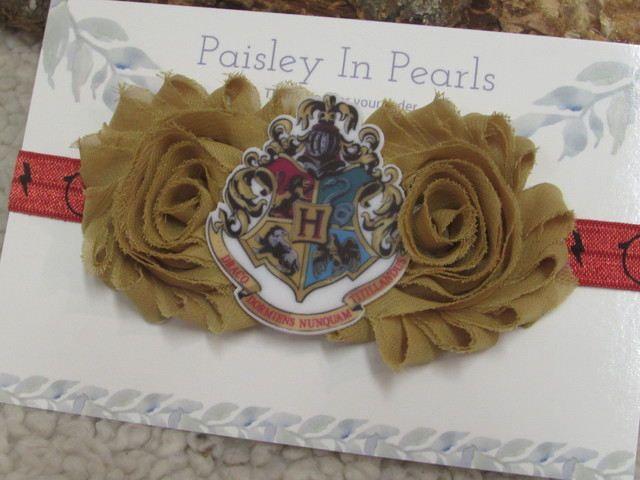 Baby girl Headband~Harry Potter Headband~Newborn Headband~Wizard baby~Potter  baby girl~newborn hair bow~Harry Potter~Wizard Photo Prop by  PaisleyInPearls on ... b165c3ddf0f