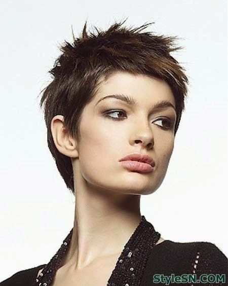 The Edgy And Spiky Short Hairstyle Thin Hair Haircuts