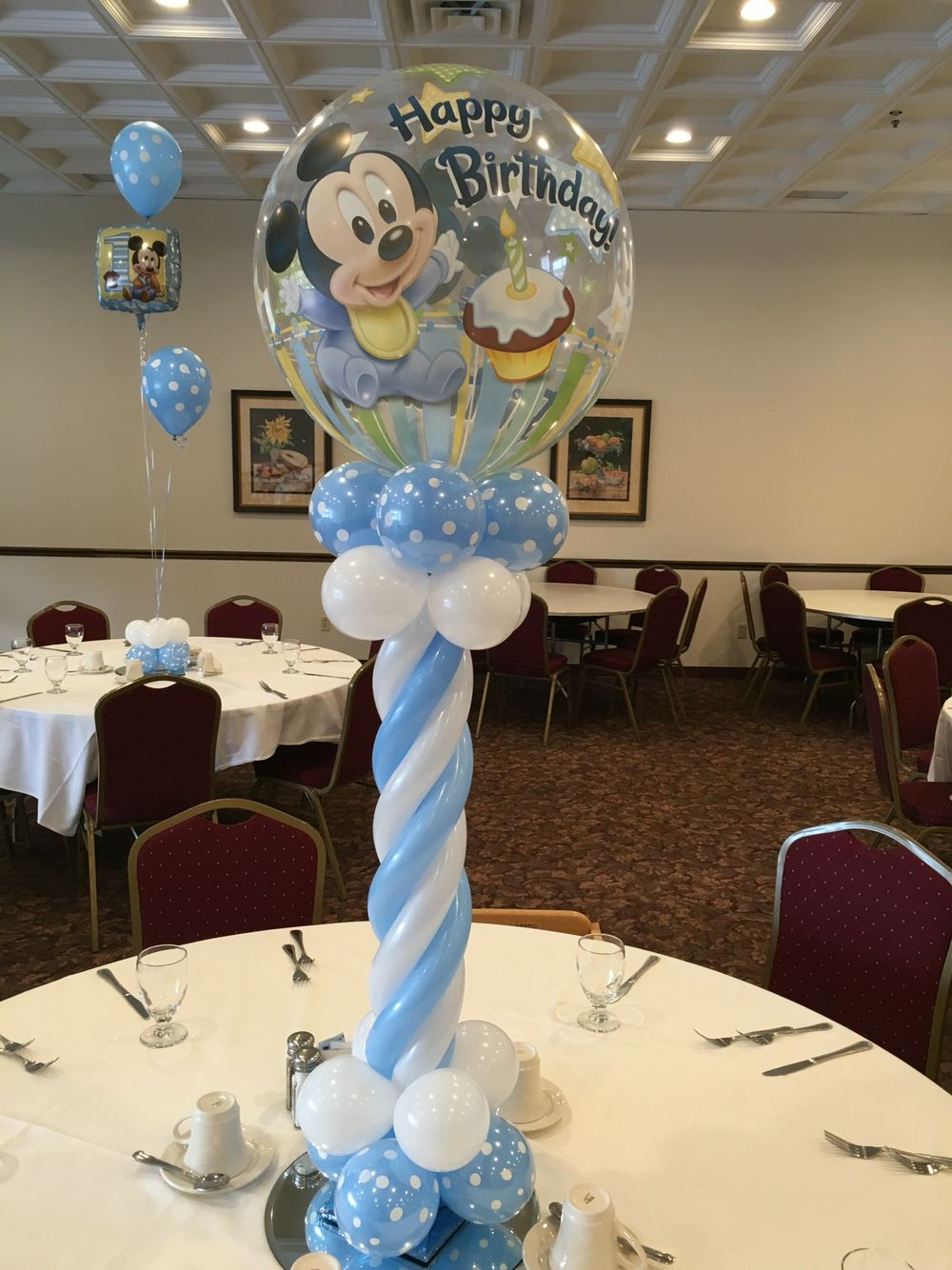 First Birthday Balloons Delivered Set Up