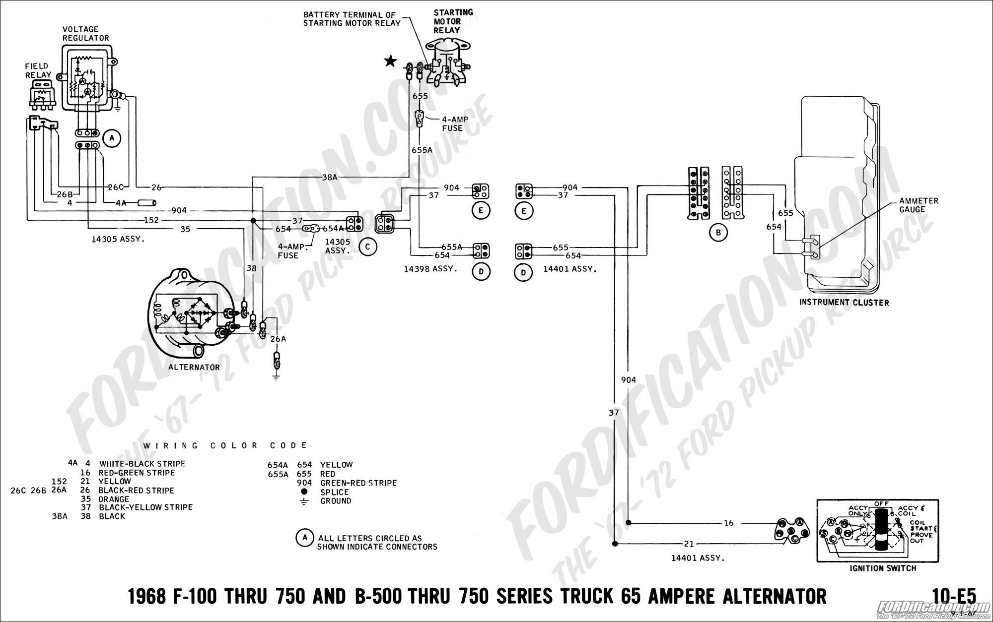 alternator wiring diagram 68 f100