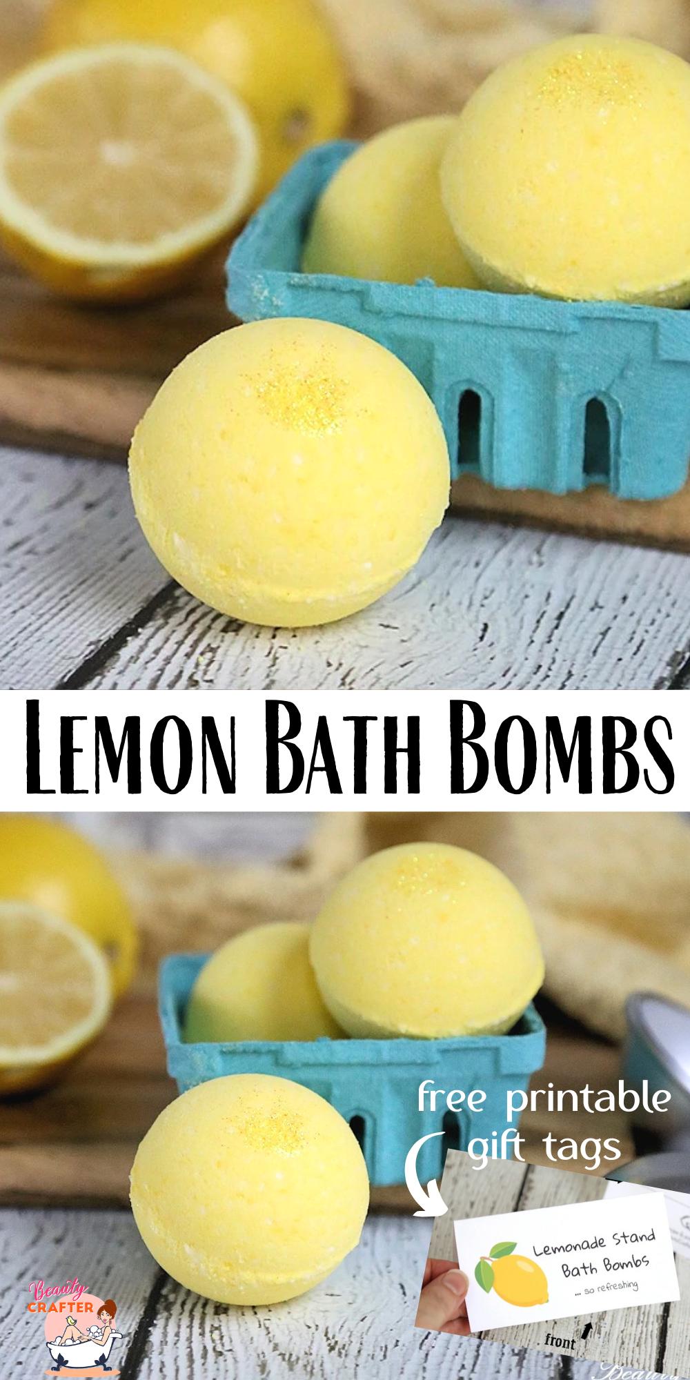 Photo of Lemon Bath Bombs