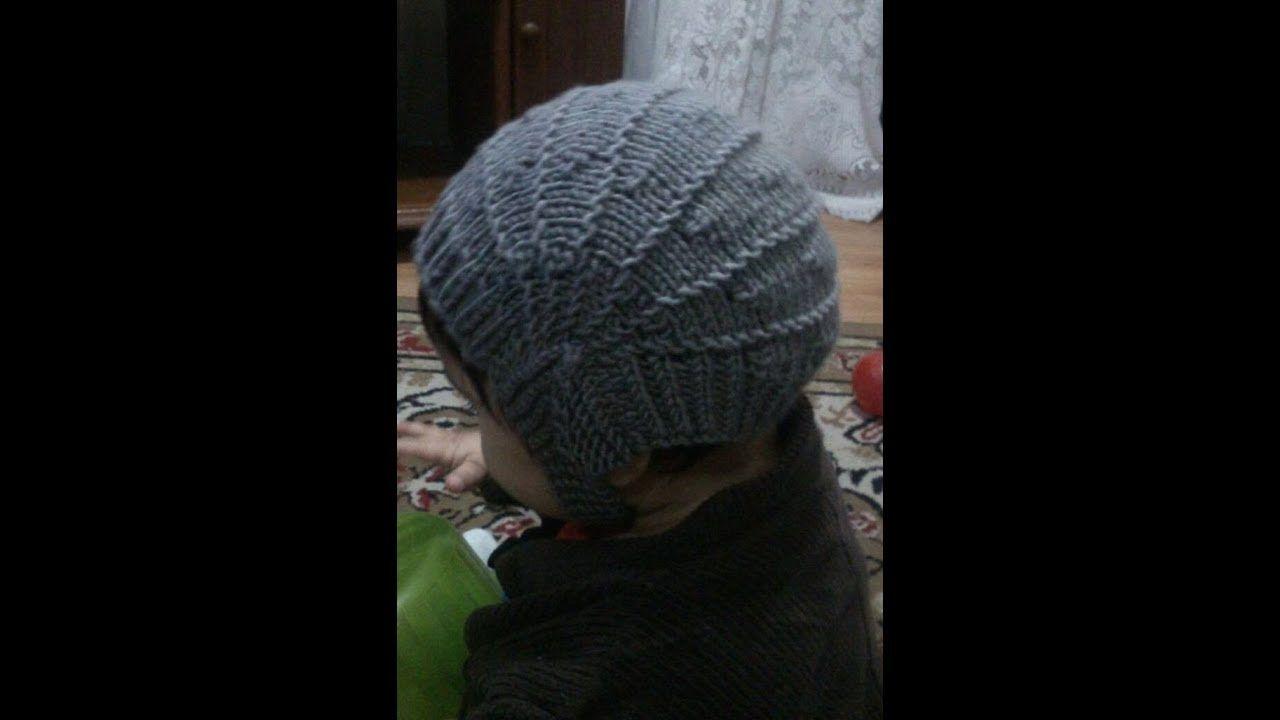 3272a713ba636 Trabalhos de trico e croche. Casaquinho de bebe facil de fazer. Touca  aviador em tricô simplificada. Touca aviador em tricô simplificada. -  YouTube