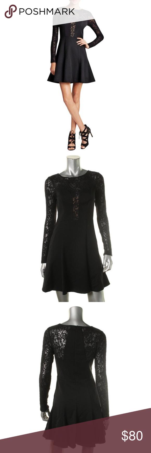 Black halo womenus long sleeve mesh dress nwt long sleeve mesh