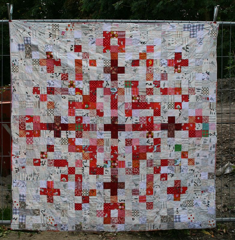 pixel snowflake quilt - front   Snowflake quilt, Patchwork and Low ... : red snowflake quilt - Adamdwight.com
