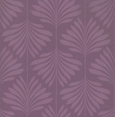 Vogue Damson (W0003/01) - Clarke & Clarke Wallpapers - A contemporary design of a lacquer leaf-trail in a damson purple on a mottled-effect deep plum background. Stylish simplicity, perfect for making walls look larger. Additional colourways also available. Please order a sample for true colour match.