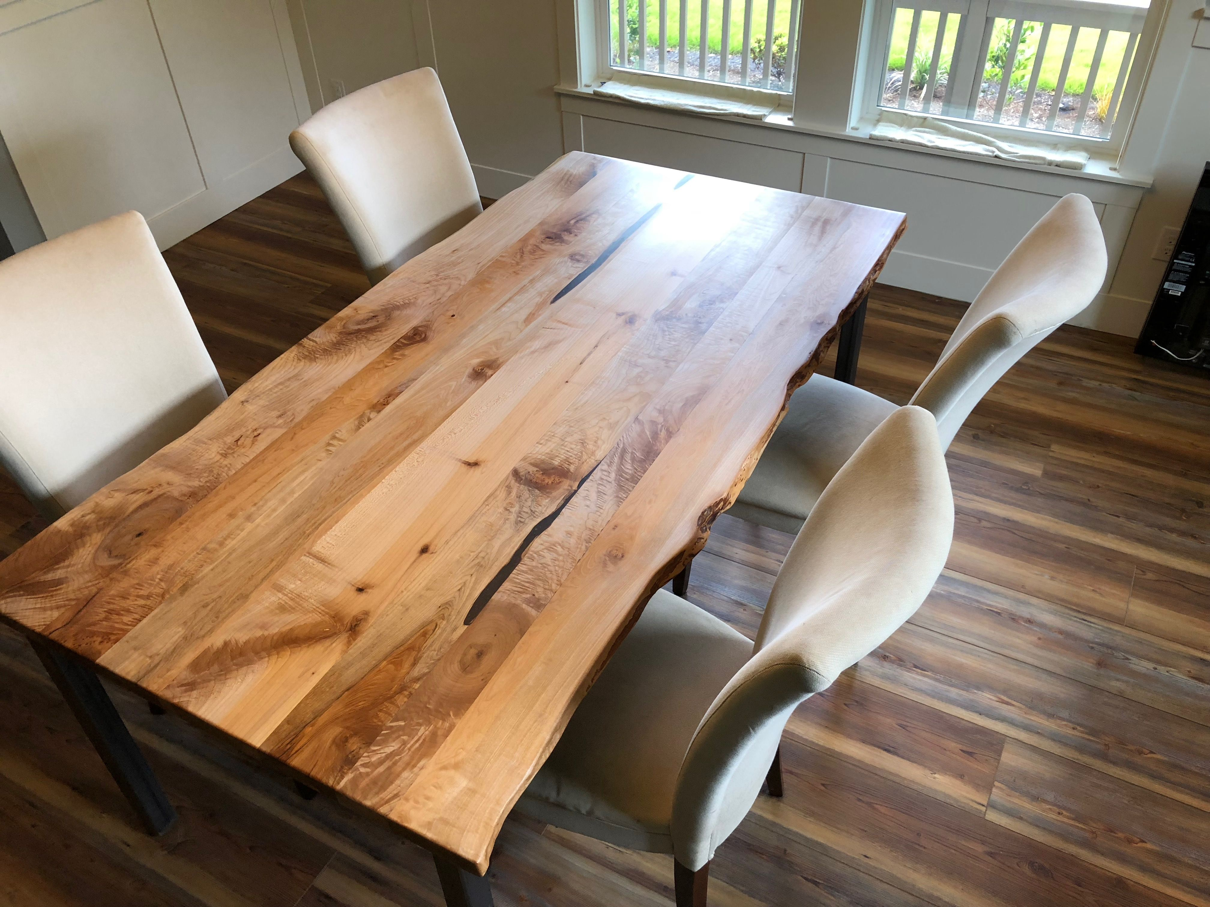 Handcrafted Custom Oregon Maple Dining Table Made To Order