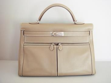 0934db173136 Hermes Kelly Lakis Bag Etoupe 40 Palladium Hardware Authentic ...