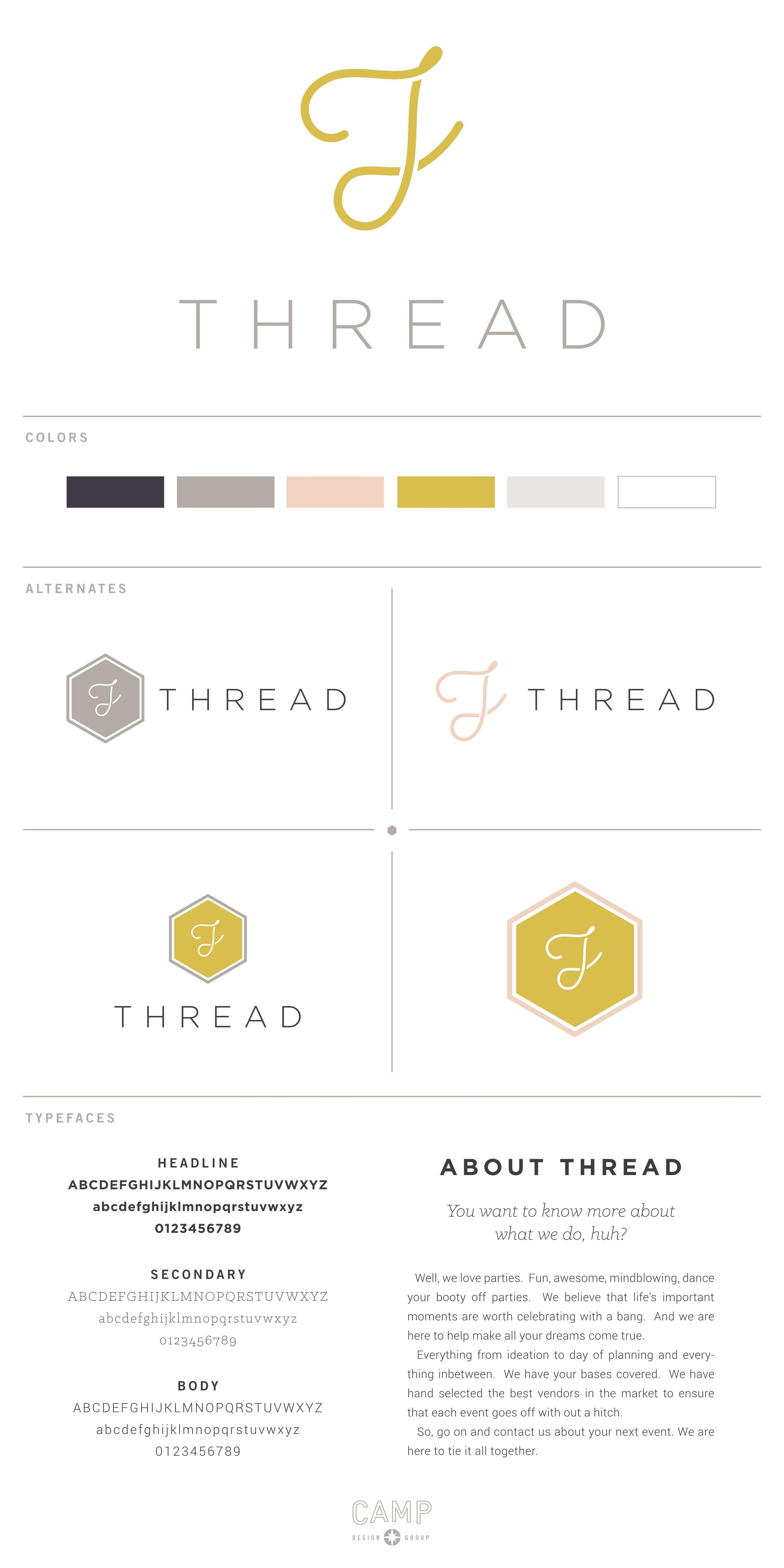 9ecf50351 THREAD Events   logo by Camp Design Group   Desi&n   Branding design ...