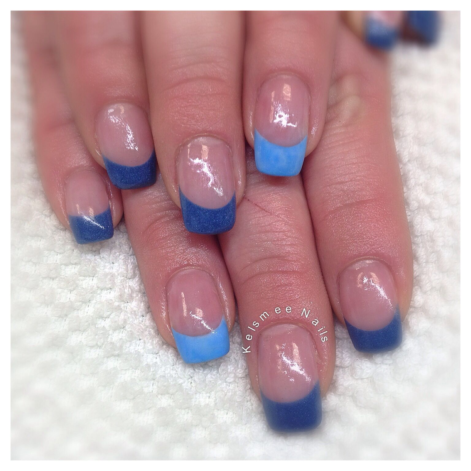 Young Nails Frenchmanicure Blue Nail Art Designs Pinterest