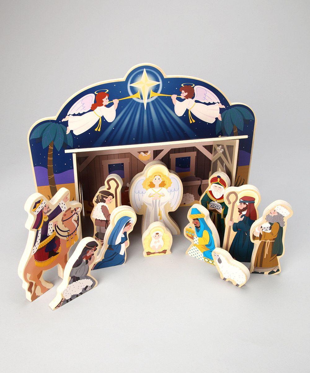 Melissa And Doug Wooden Nativity Set Wooden Nativity Sets