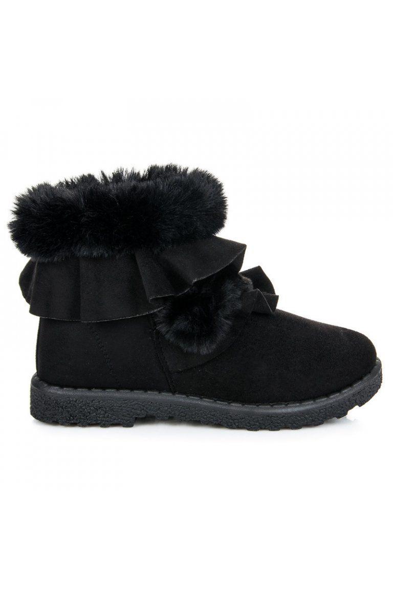 Čierne topánky s ozdobou Seastar  818f8adf33e