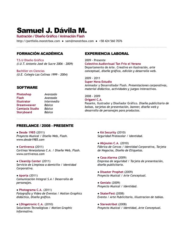 Nice simple layout, but still a little different CV Pinterest - resume tools