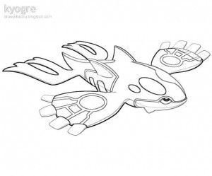 Pokemon kyogre coloring pages printable coloring book - Coloriage pokemon kyogre ...