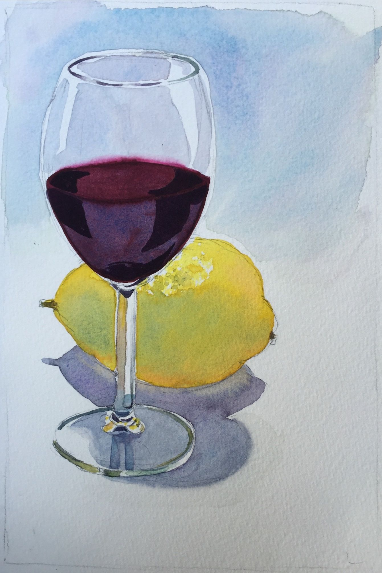 Watercolor Techniques For Painting Liquid Glass In A Still Life