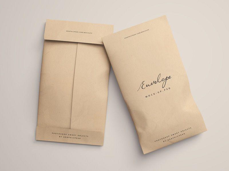 Download Envelope Package Mockup Creative Packaging Design Envelope Design Paper Bag Design