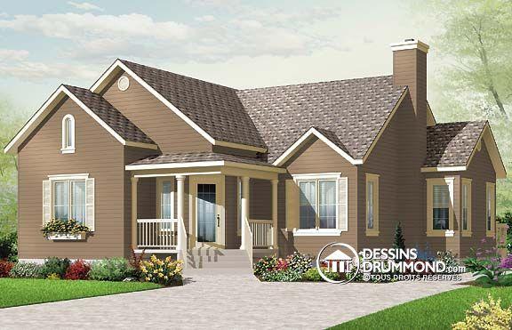 plan de maison champêtre no 3133 de Dessins Drummond The Sims