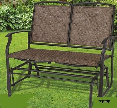 Double Glider Rocker Outdoor Deck Patio Porch Furniture Chair Swing Sling Fabric Ebay