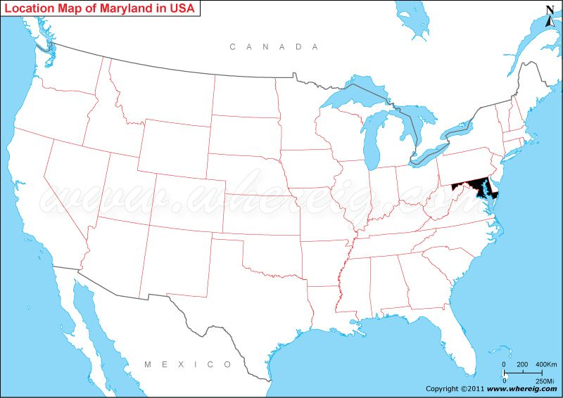 Where Is Maryland Us Map Usa Map Where Is Georgia