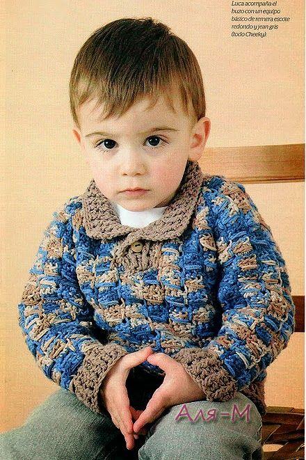 CARAMELO DE CROCHET: sueter para niño | Vestir Crochet-Clothes ...