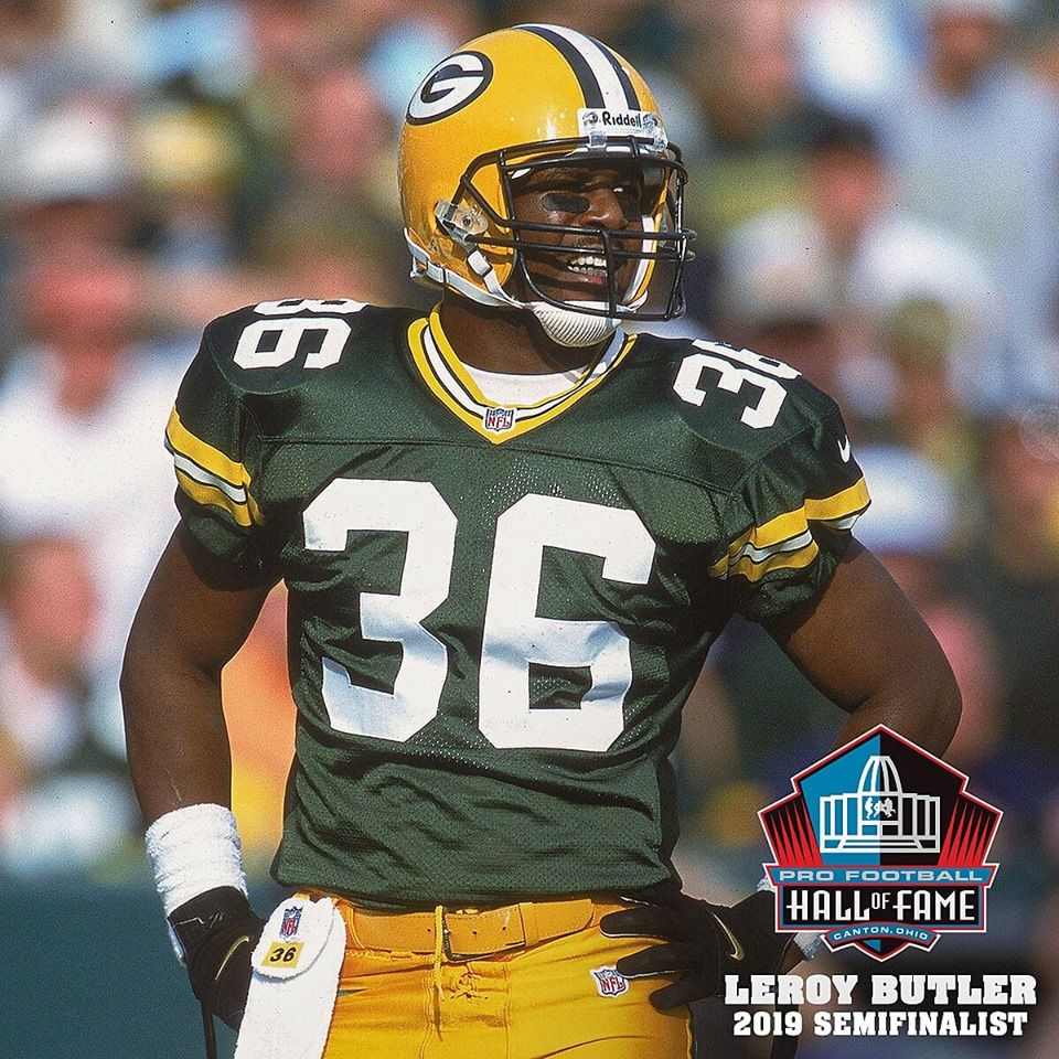 Leroy Butler Named A Pro Football Hall Of Fame Semifinalist With Images Football Football Hall Of Fame Leroy