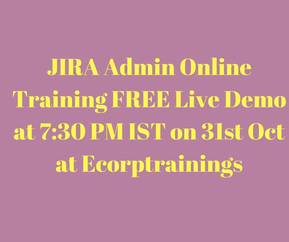 Atlassian Jira Agile Training in Hyderabad, India. Ecorptrainings ...