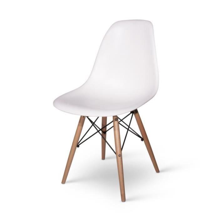 Chaise chaise design dsw blanche blanc