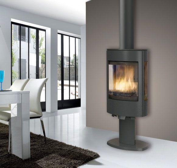 po le bois turbo fonte orion 2 en fonte gris anthracite appareil quip de deux vitres. Black Bedroom Furniture Sets. Home Design Ideas