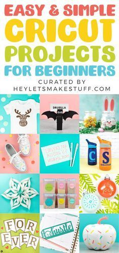 New to your Cricut? These simple Cricut projects for beginners are the perfect place to start! Get your feet wet with these fun but simple Cricut crafts using your Cricut Explore Air 2 or Cricut Maker machine. #cricut #cricutcreated #cricutmade #cricutcrafts #cuttingmachine #easycrafts #easydiy #cricutexploreair2projects New to your Cricut? These simple Cricut projects for beginners are the perfect place to start! Get your feet wet with these fun but simple Cricut crafts using your Cricut Explor #cricutexploreair2projects