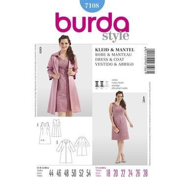 Burda 7108 Womens Dress And Jacket 18 28 Spotlight Australia