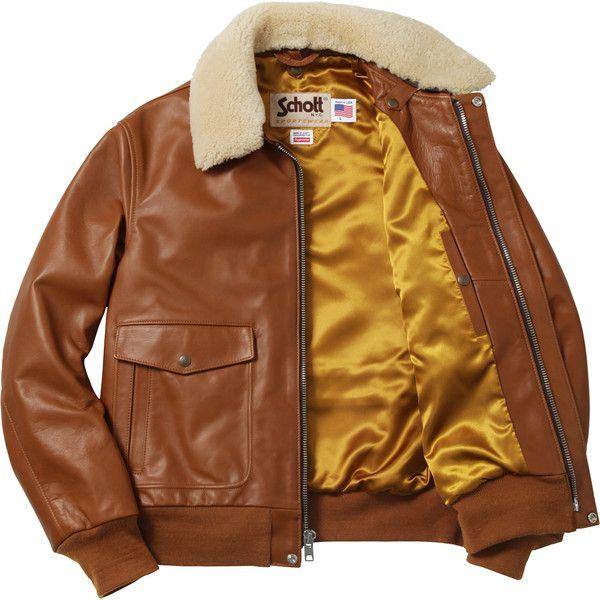 b0e5f00db Supreme Supreme /Schott Leather A-2 Flight Jacket ❤ liked on ...