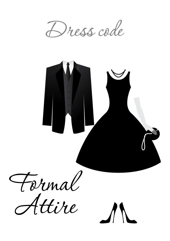 Formal Attire Dress Code Dress Code Clipart In 2018 Pinterest