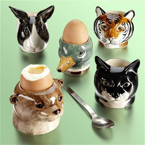 Giraffe Face Ceramic Egg Cup By Quail Comes Boxed