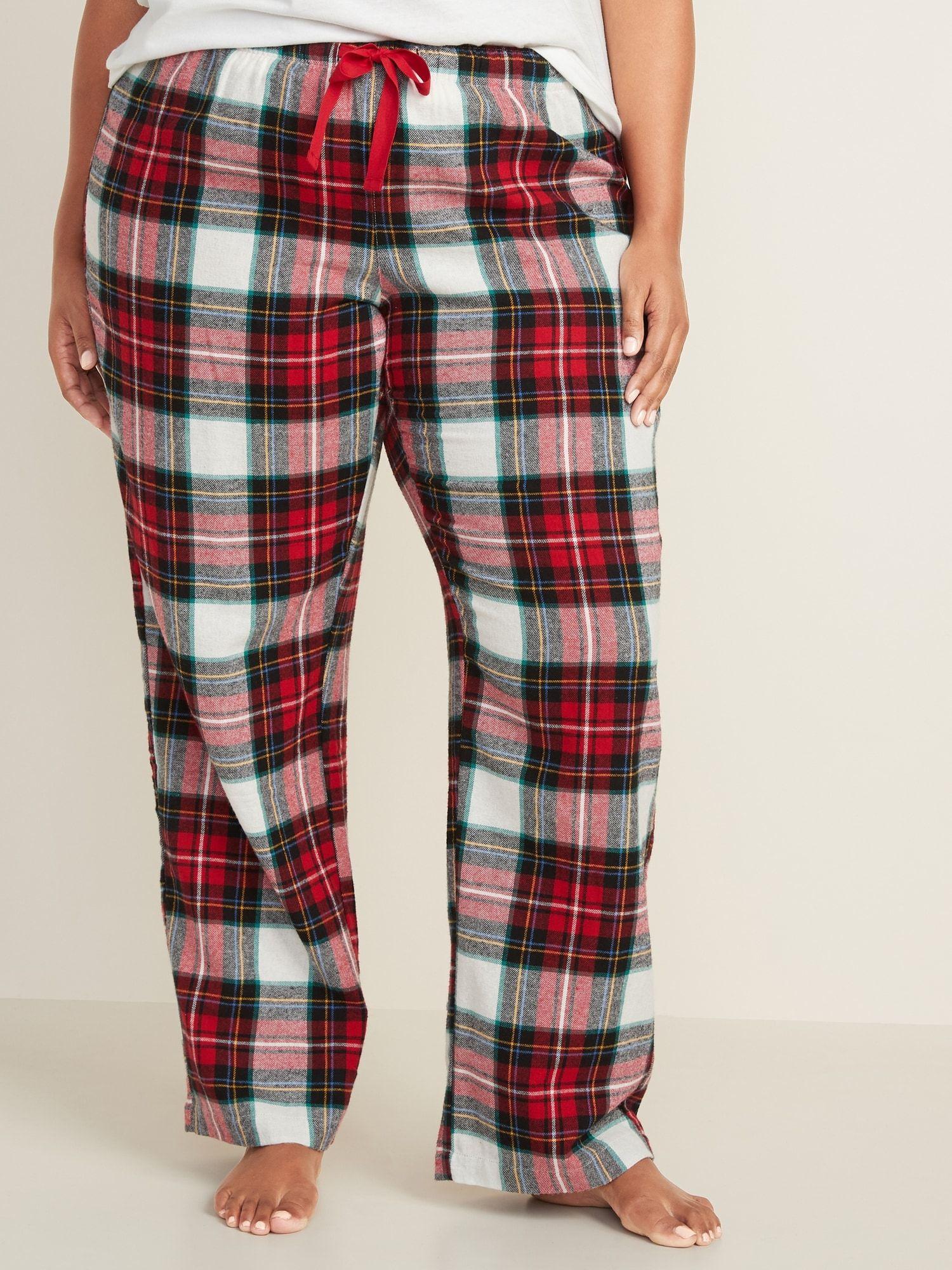 Patterned Flannel Plus Size Pajama Pants Plus Size Pajamas Pajama Pants Plaid Pajama Pants