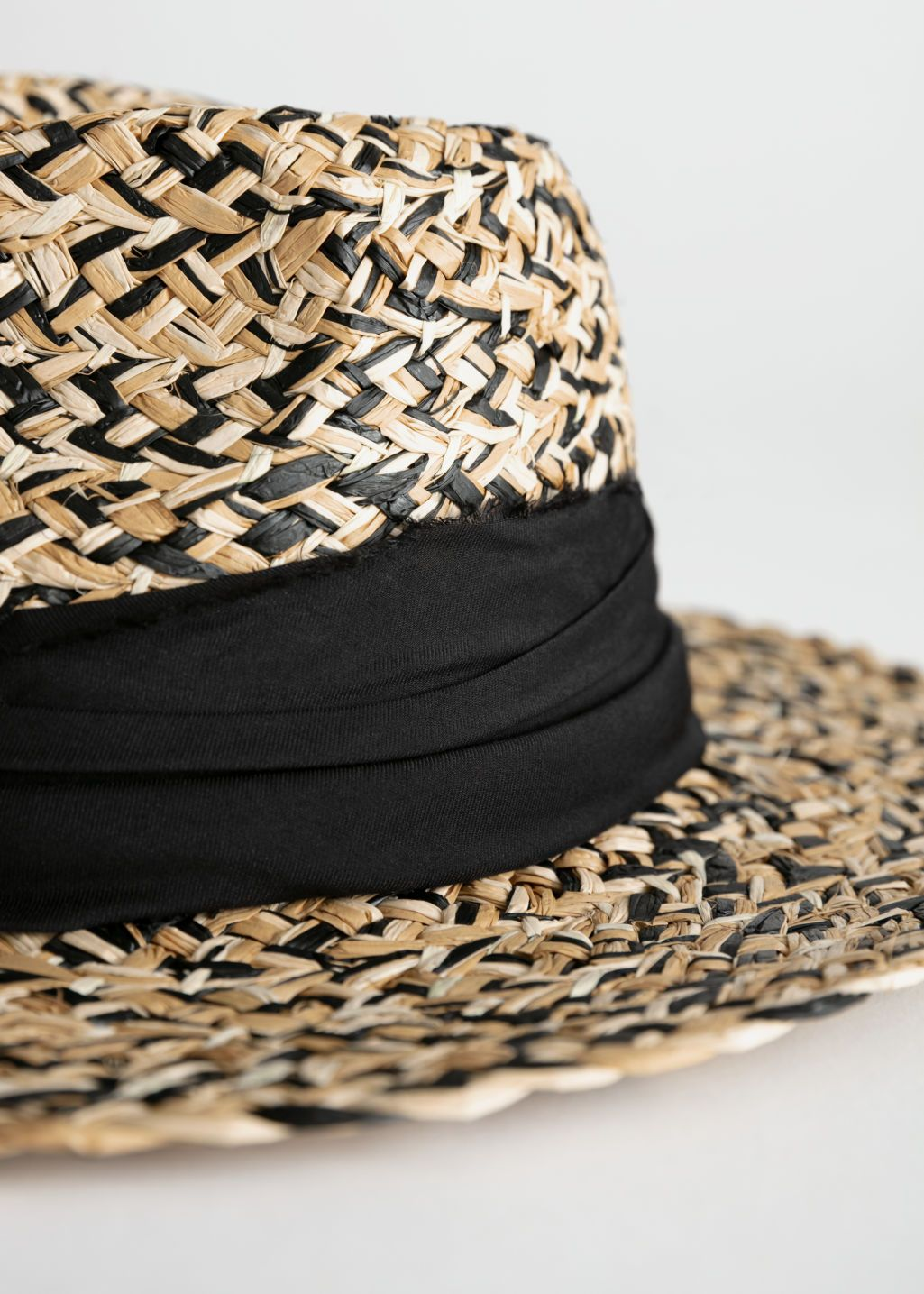 6c346a77fbf03 Back image of Stories in black. Multicoloured Straw Fedora - Beige Black -  Hats ...