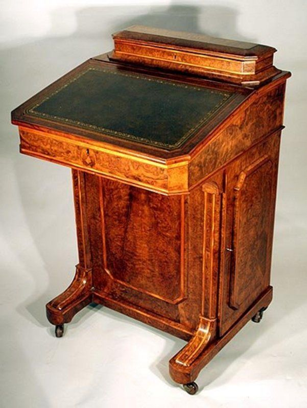 Exceptional Burled Walnut Captain S Desk Old Desks Dream Furniture Desk