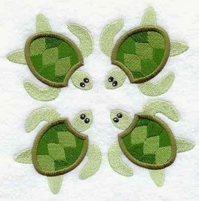 Sea Turtle Quilt Block