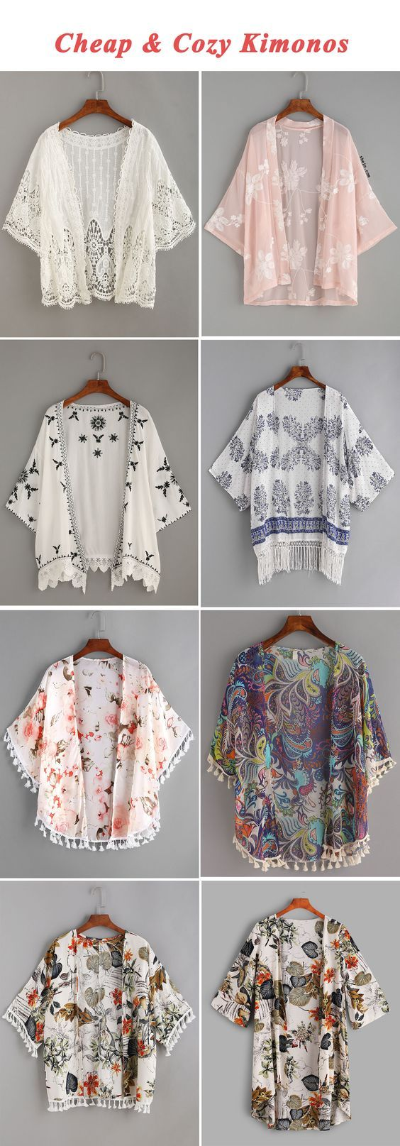 Cheap & cozy kimonos #outfits4school