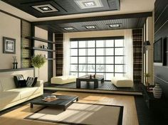 Interior, Japanese Styled Furniture Ideas For Living Rooms With Beige Rug:  Comfortable Interior Design Ideas For Living Rooms