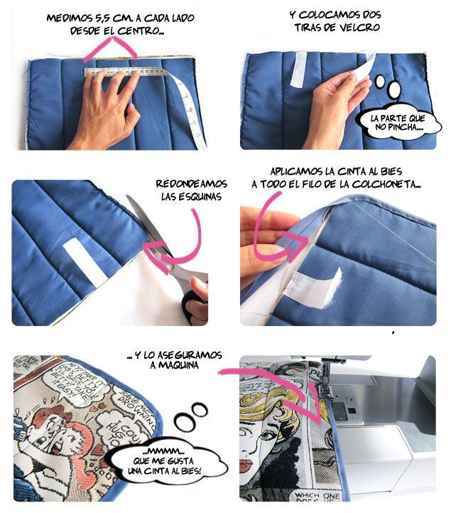 Cómo hacer una colchoneta para silla de paseo -DIY- | Patrones De ...