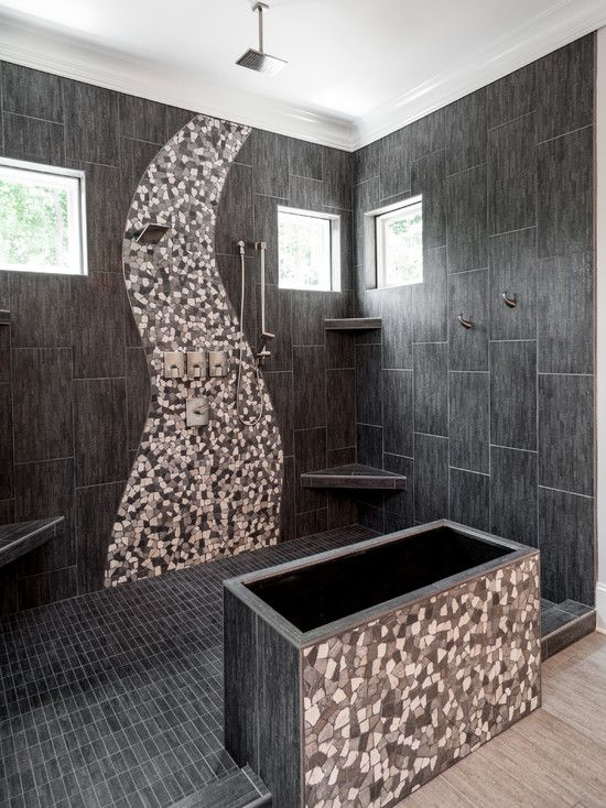 sensational modern custom home design ideas extravagant bathroom interior mosaic tile backsplash catawba cove house - Mosaic Tile Design Ideas