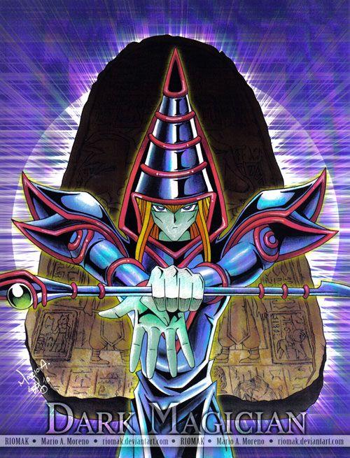 Dark Magician by Riomak on DeviantArt Personagens de anime