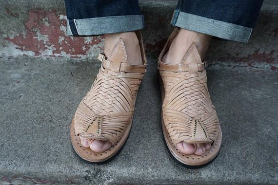 9d777cdbcd8b CIEN CLAVOS STYLE mexican sandals men s huaraches mexicanos genuine leather  cuero autentico
