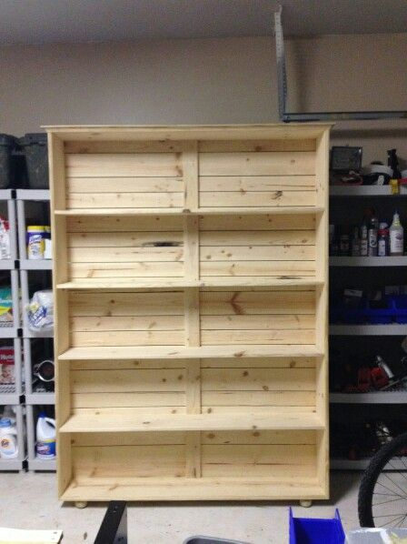 Bookshelf Made From Knotty Pine 7 Foot By 5 Playroom Ideas