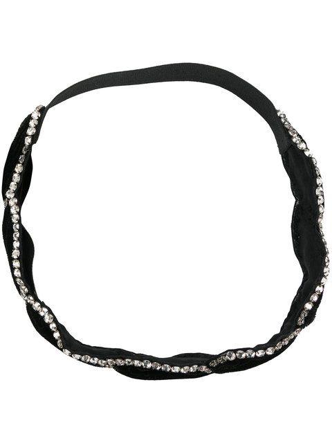 22db2de73eb GUCCI braided crystal-embellished headband.  gucci